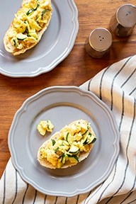 When the farmers' markets are brimming with zucchini, it's time for a market-fresh meal. Try zucchini and eggs with butter and Parmesan.