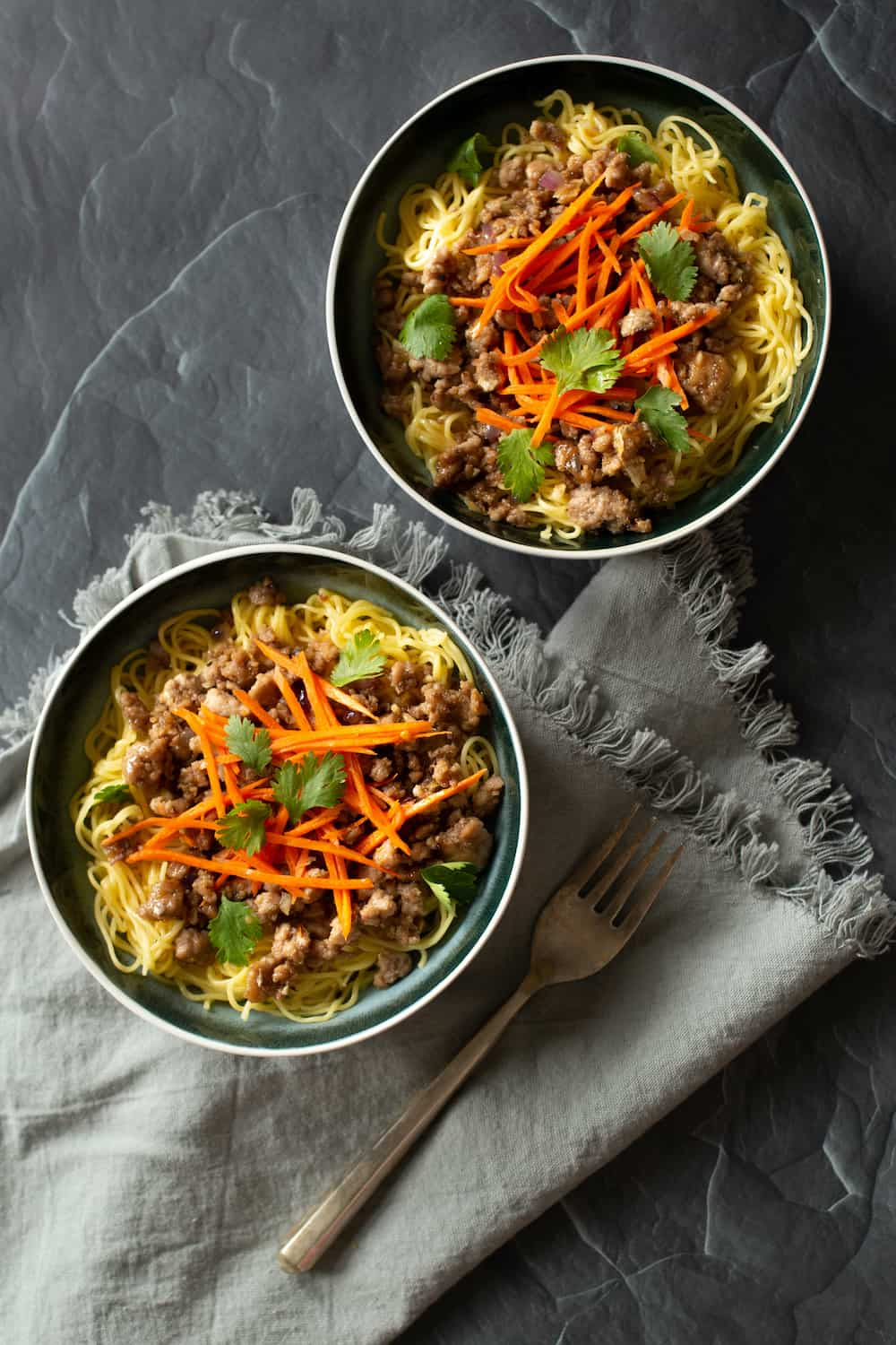 Lemongrass Pork with Pickled Carrots