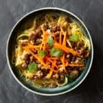 lemongrass pork bowl with noodles