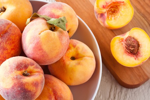 fresh peaches, via www.www.goodfoodstories.com