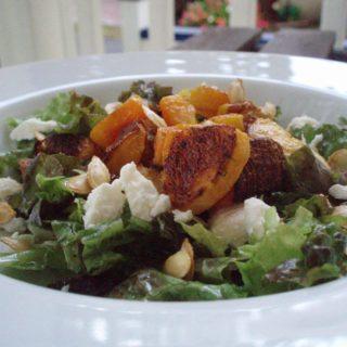 Warm Autumn Squash and Goat Cheese Salad