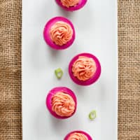 Beet-Pickled Deviled Eggs