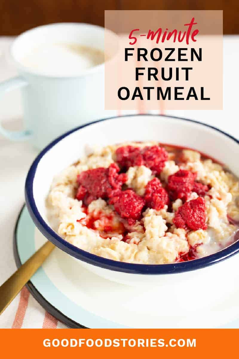 oatmeal with frozen fruit