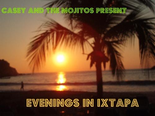 sunset, beach, ixtapa, mexico