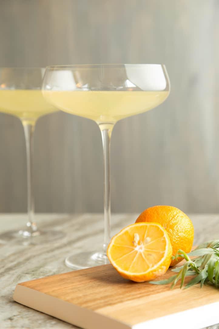 Wintergarden Westside: a meyer lemon and tarragon cocktail, via www.www.goodfoodstories.com