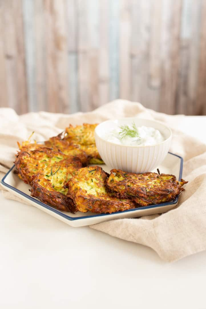 turkish zucchini fritters (mucver), via www.goodfoodstories.com
