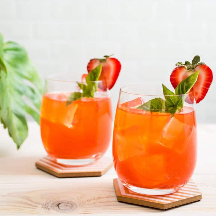 Absinthe Strawberry Cocktail