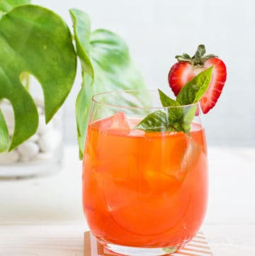 Absinthe Strawberry Cocktail