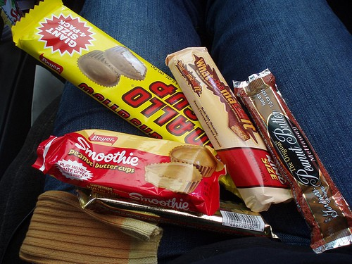 mallo cup, smoothies, whatchamacallit, gardners peanut butter meltaways