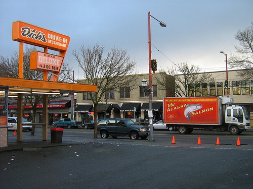 dicks drive in, seattle, capitol hill, burgers