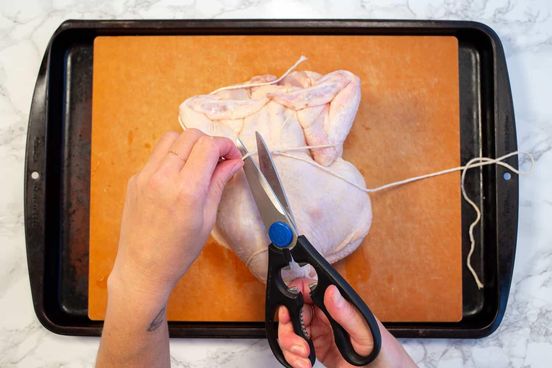 trussing a chicken