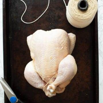 trussed whole chicken
