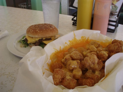 milts stop and eat, moab, utah, cheeseburger, tater tots