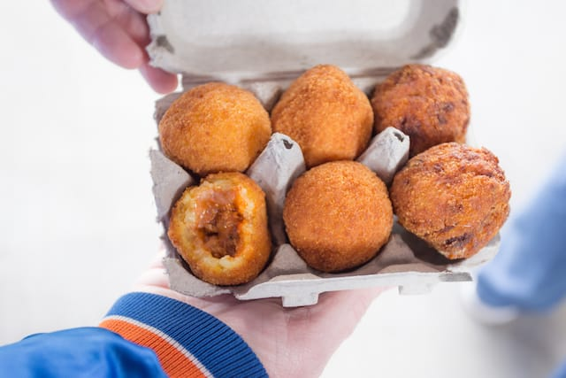 Arancini Bros. - What to Eat at Citi Field, home of the NY Mets, via www.www.goodfoodstories.com