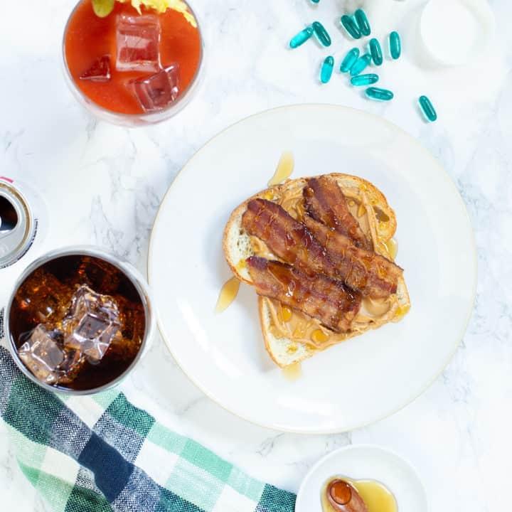 The Hangover Killer: Peanut Butter, Bacon, and Honey Sandwich