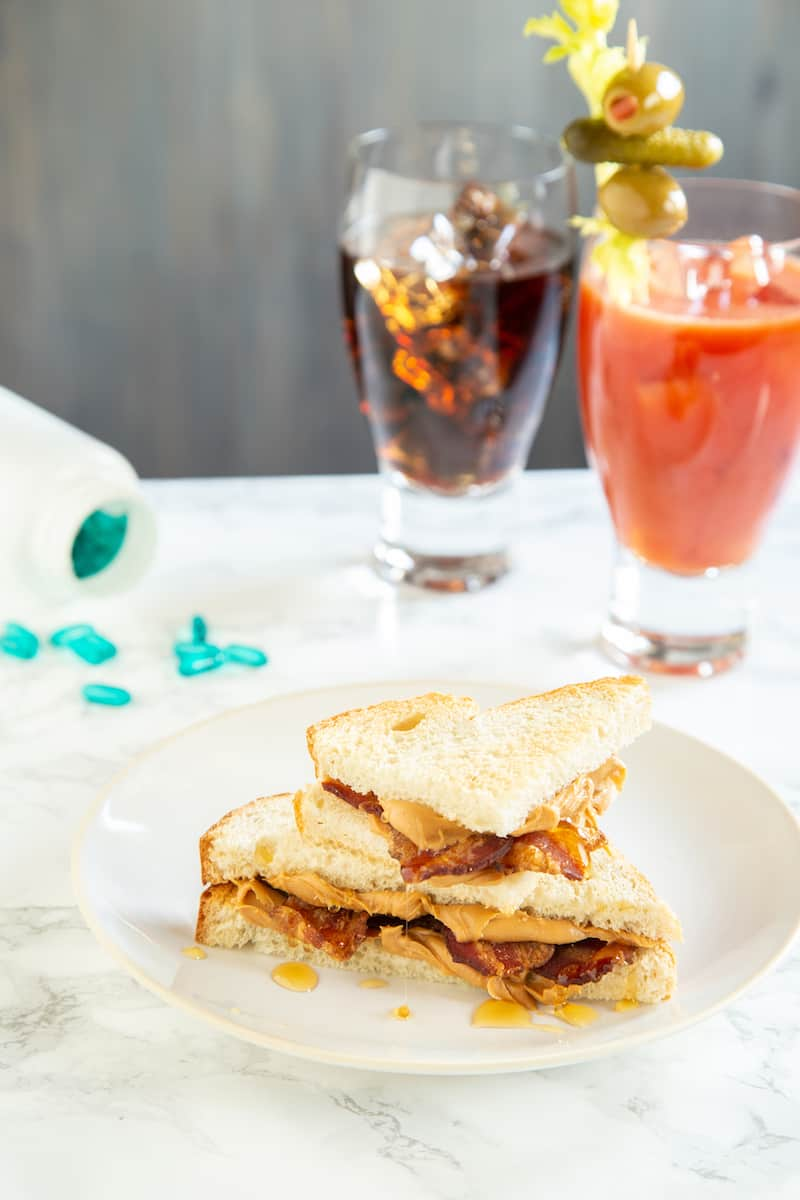 The peanut butter bacon honey sandwich is perfect for soaking up hangovers or just for a comforting weekend breakfast.