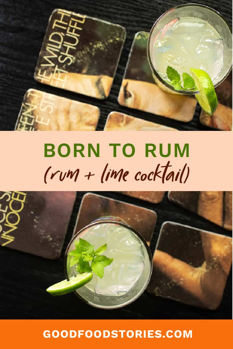 rum and lime cocktail