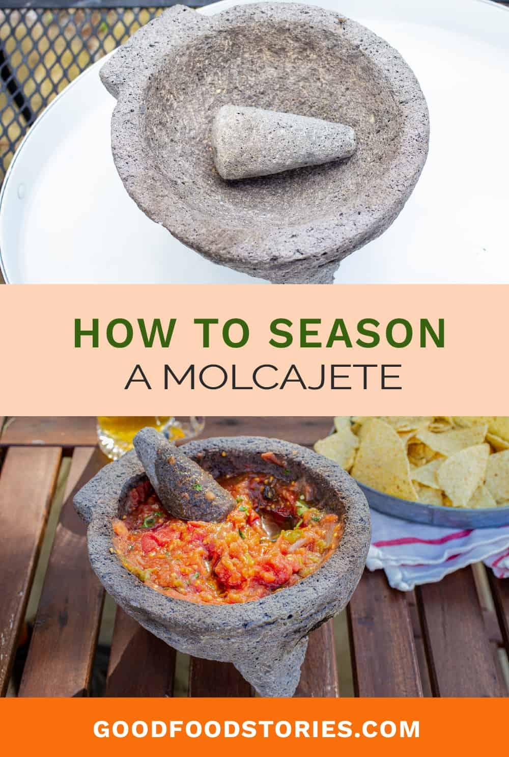 how to season a molcajete