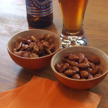 spiced nut recipes, thai cashews, smoky sweet almonds