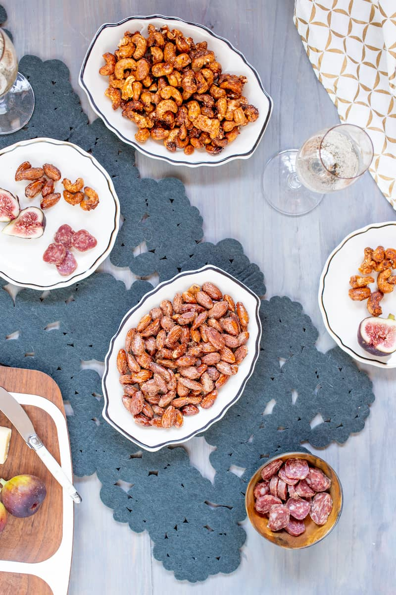 Spiced nuts are great for parties and only take 20 minutes to make.