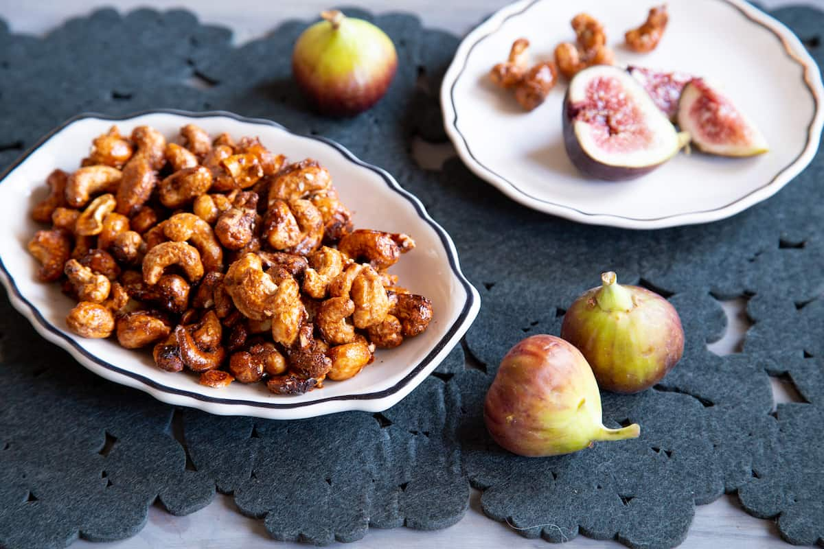 Spiced nuts are great for parties, like these Thai spiced cashews that only take 20 minutes to make.