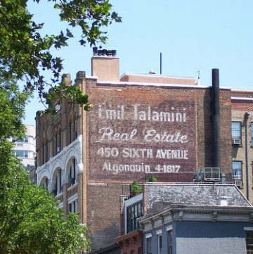 new york ghost sign, frank o'hara