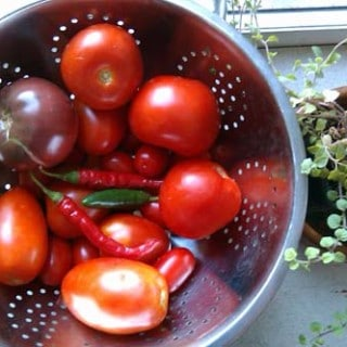 Raw Tomato Sauce with Chile Peppers
