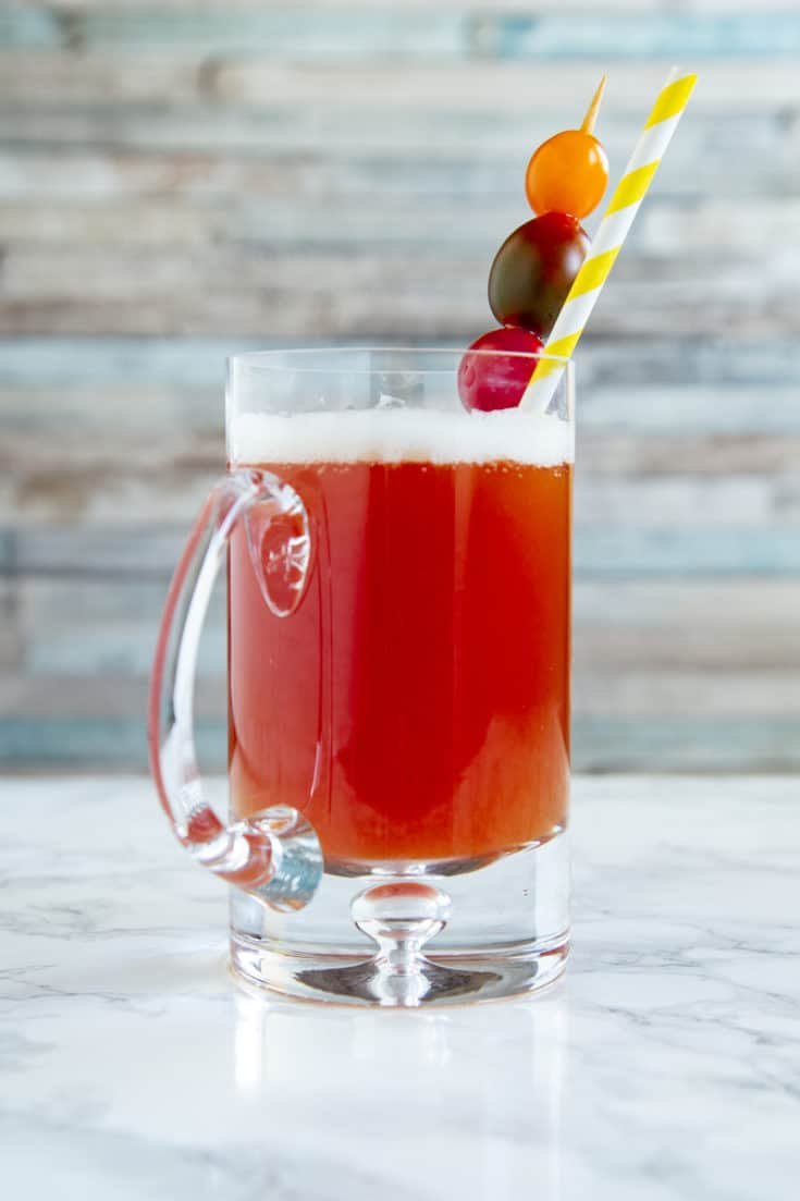 Bloody beer, red eye, red beer, red rooster: whatever you call it, this beer-and-tomato-juice combo is way more than a brunch accompaniment. #bloodybeer #brunchdrinks #beercocktails #redbeer