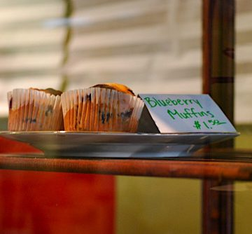 Village Bakery blueberry muffins