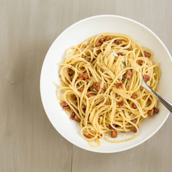 how to make spaghetti carbonara, via goodfoodstories.com