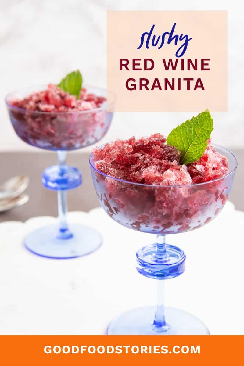red wine granita slushies