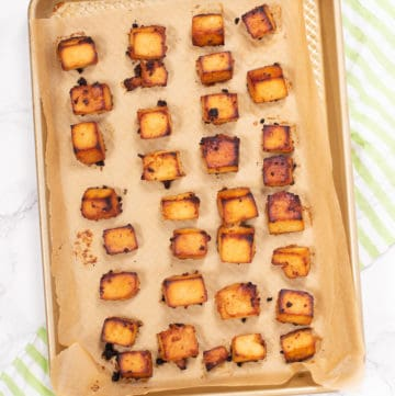 Make crispy baked tofu for a crunchy exterior without frying!
