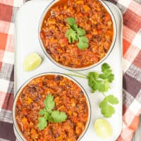 (Cilantro) Black Bean Chili