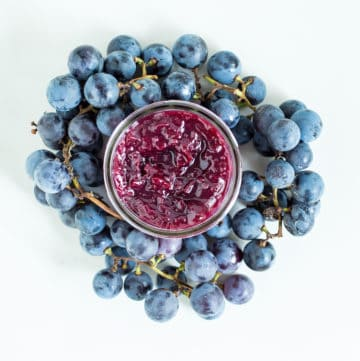 Concord grape jam, via goodfoodstories.com