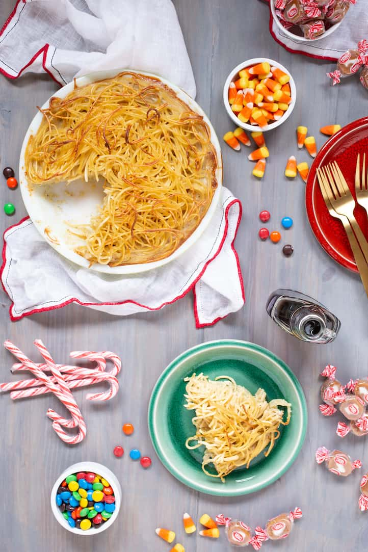 Buddy the Elf spaghetti pie, via goodfoodstories.com