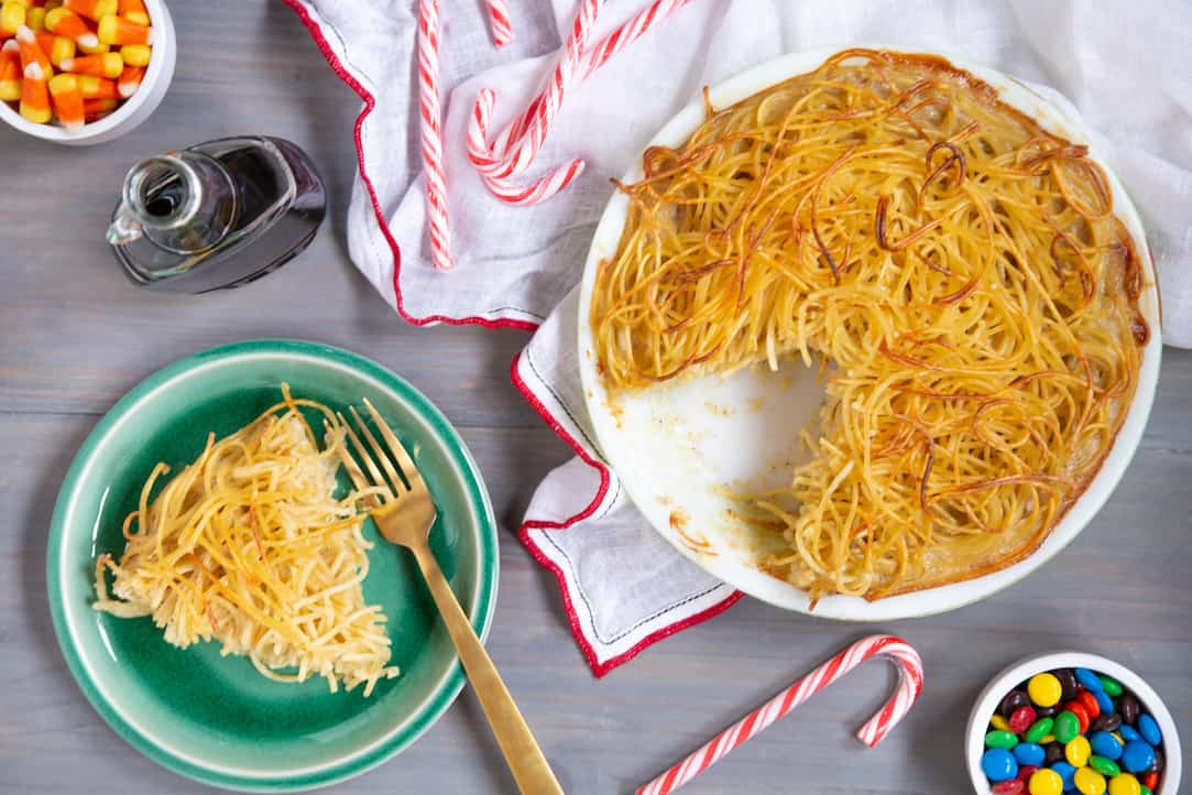Buddy the Elf spaghetti pie, via goodfoodstories.com