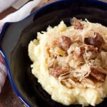 good luck kielbasa and sauerkraut for New Year's, via goodfoodstories.com