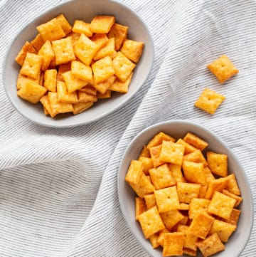 homemade Cheez-Its from the cookbook Classic Snacks Made from Scratch