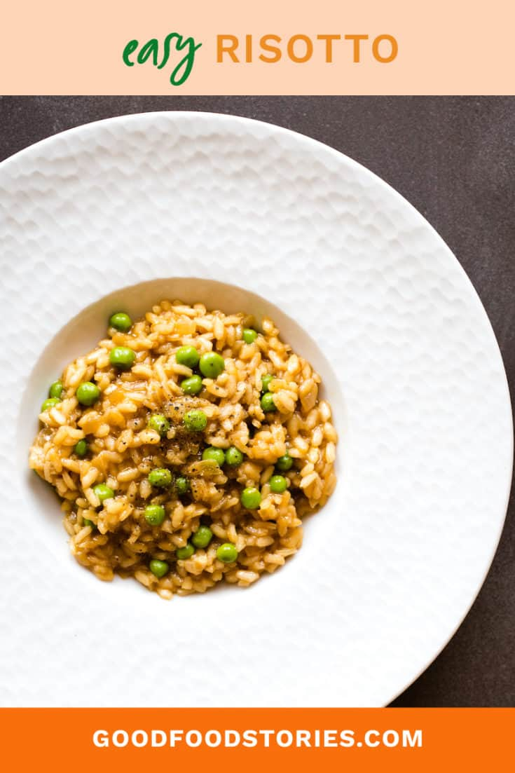 Risotto seems like an intimidating dish, but we have a few tips for making this Italian classic without breaking a sweat. Easy risotto in minutes! #risotto #italian #rice #sidedish