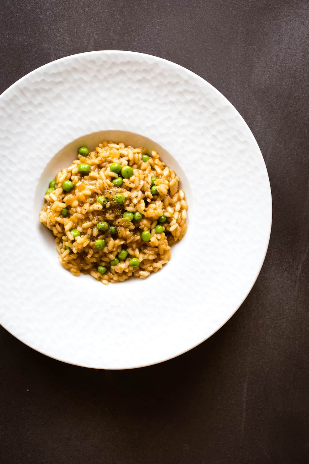 easy risotto with peas