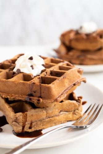 How to Fold Ingredients + Cocoa Waffles