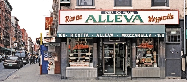 alleva dairy, little italy, new york