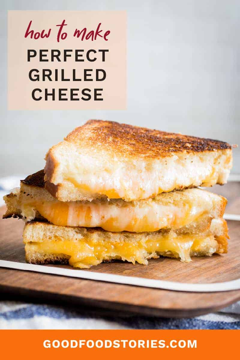 sliced grilled cheese sandwiches