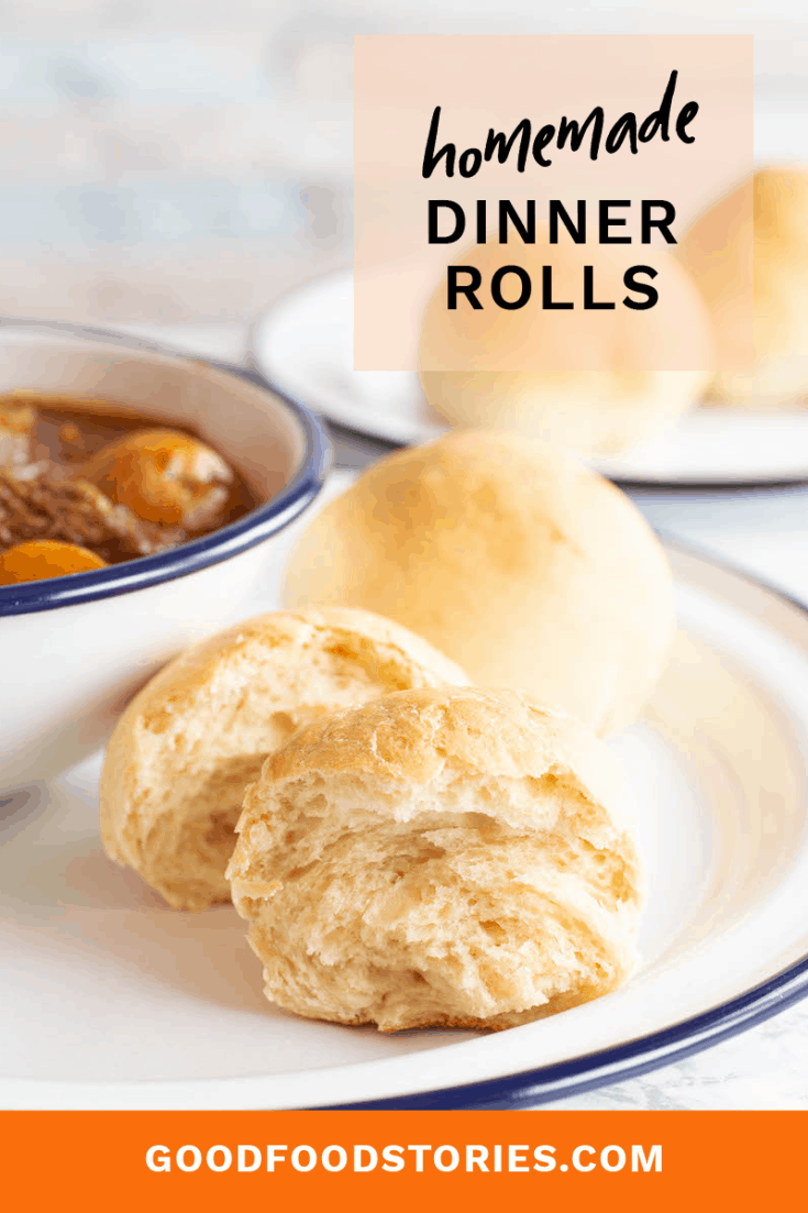 Dinner rolls from scratch are a great introduction to yeast baking and provide warm comfort. Here's an easy-to-follow recipe that's ready in about an hour. #baking #dinnerrolls #quickbreads