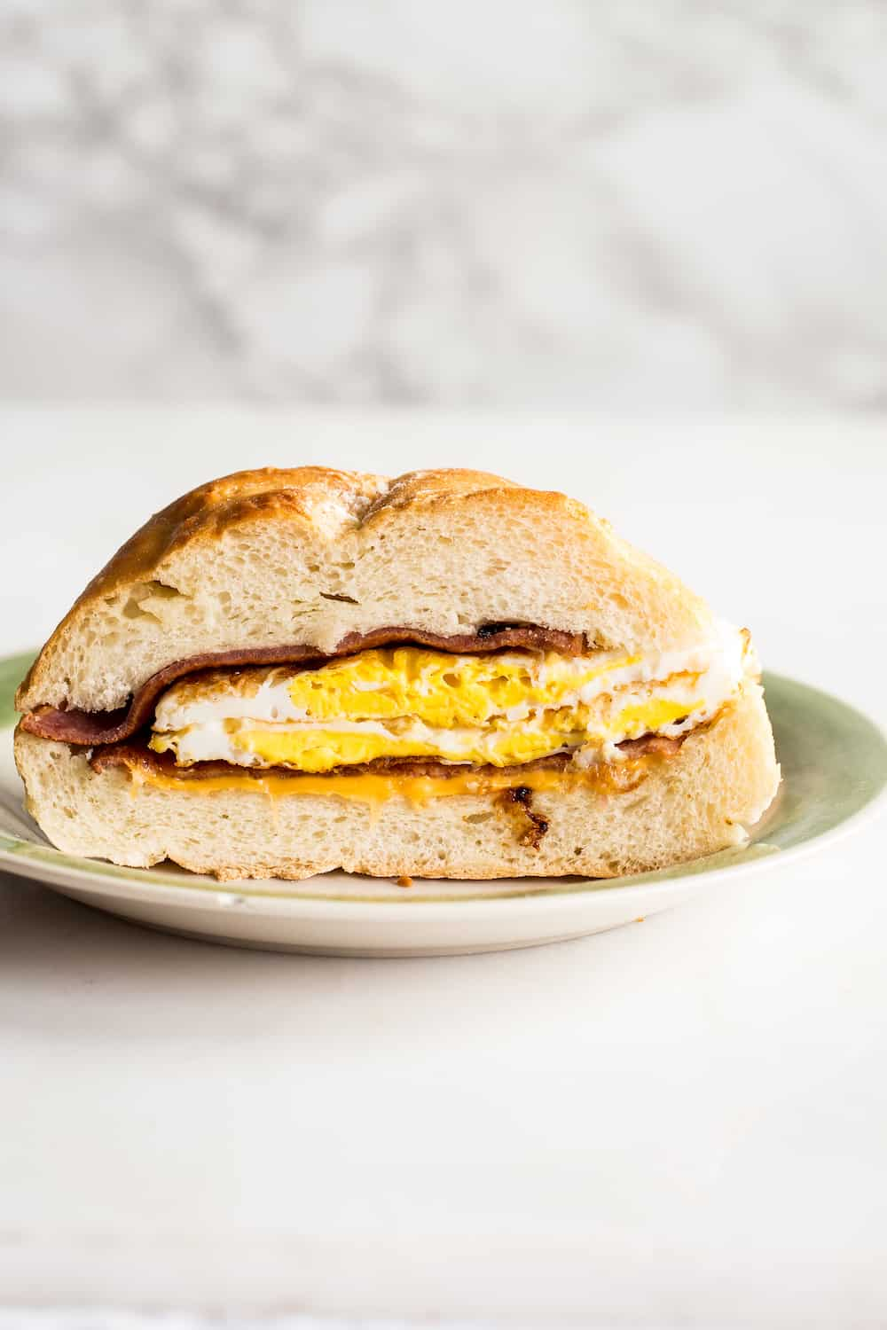 taylor ham or pork roll sandwich with egg and cheese