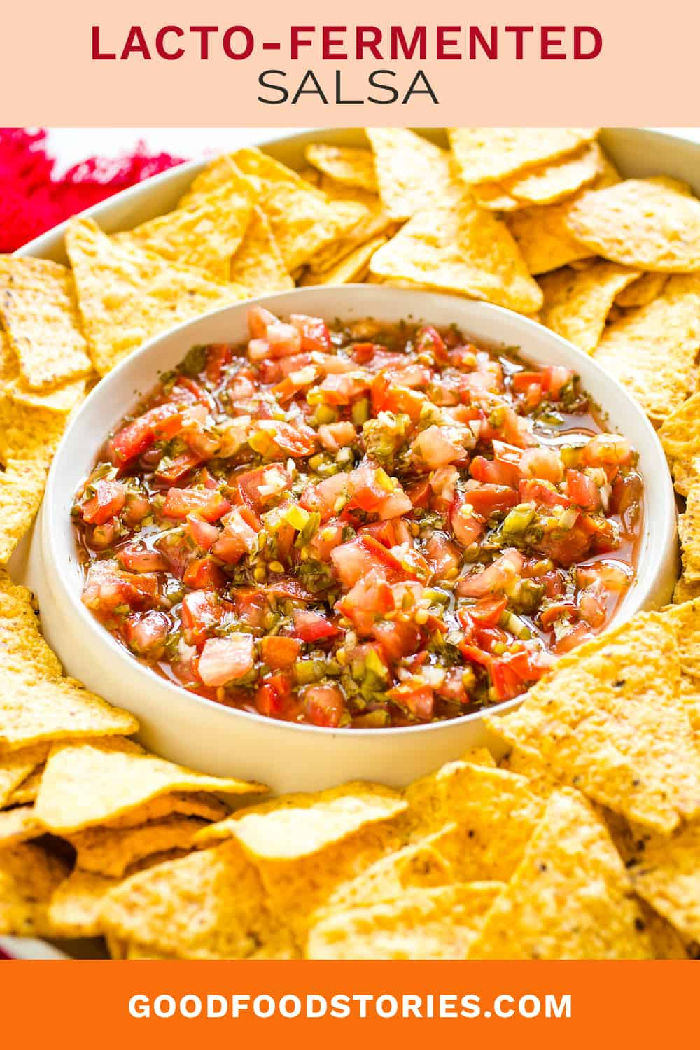 lacto-fermented salsa and chips