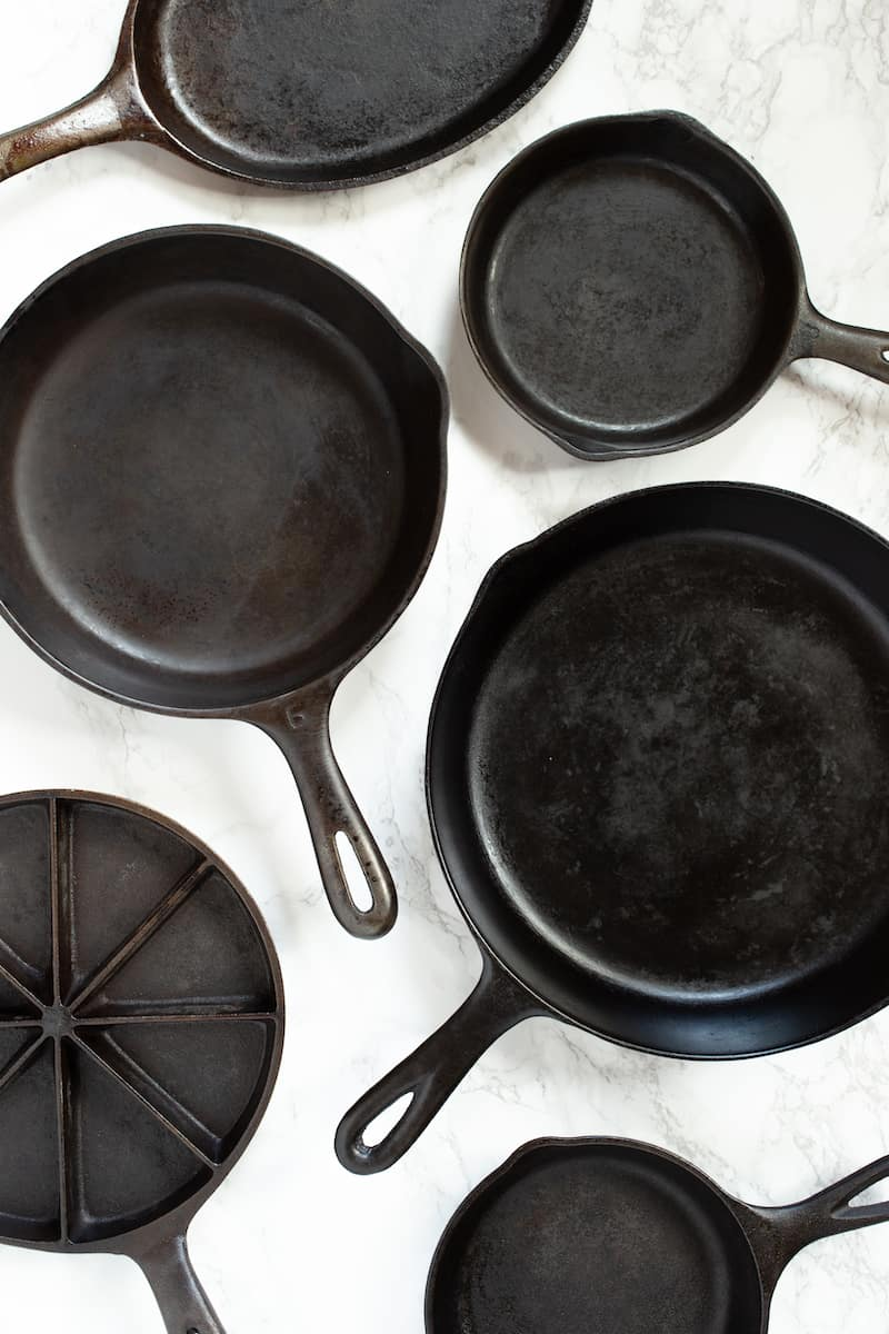 how to clean, season, and wash cast iron skillets - via goodfoodstories.com