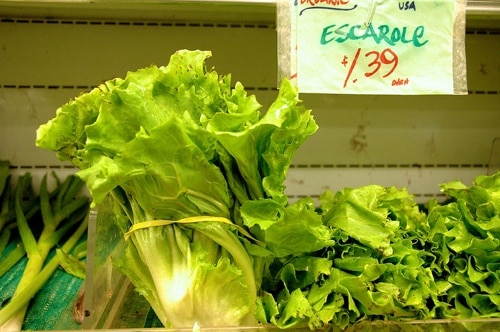 Wilted Escarole Salad with Anchovy Dressing