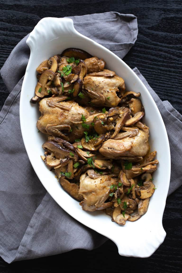 How to Cook Quail – Braised Quail with Mushrooms
