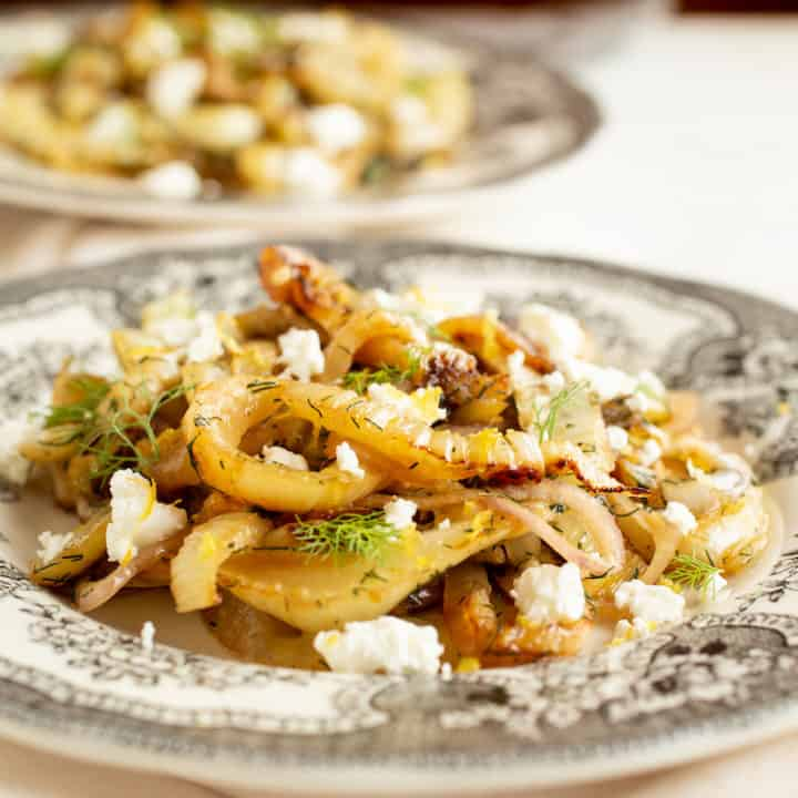 Caramelized Fennel with Goat Cheese